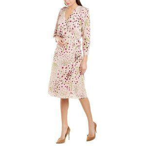Joie Acantha Print Tie Wrap Womens Midi Dress